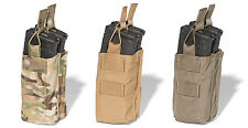ATS Tactical MOLLE AR Double Stacked Shingle Mag Pouch-Multicam-Coyote-RG-Black