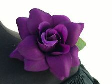 PURPLE FLOWER HAIR CLIP FOR MEXICAN FIESTA,5 DE MAYO,DAY OF THE DEAD,WEDDING