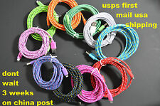 10ft Braided Durable 8 Pin USB Data Sync Charger Cord Cable for iPhone 5 5s 5c