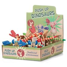 Retro Wooden Push Up Dinosaur Toys with Flexible Limbs - Choice of Colour!