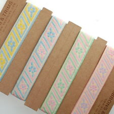 Neotrims 2cm Pretty Floral Folk Pastel Ribbon Online By The Yard Embroidery Look