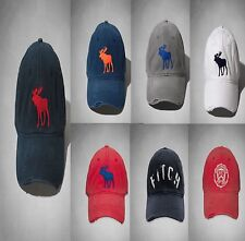 NWT Abercrombie Fitch A&F by Hollister Mens Vintage Ball Baseball Cap Hat Moose