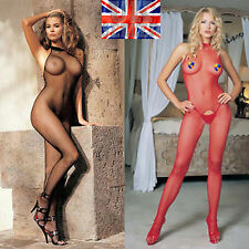 women's sexy body stocking playsuit lingerie underwear glamour fishnet