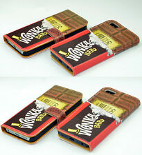 Willy Wonka Golden Bar Ticket Leather Wallet Card Case For Apple iphone 5C 5S 4S