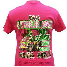 "Girlie Girl Originals ""4-Wheeler #3"" Hot Pink ADULT unisex fit t-shirt"