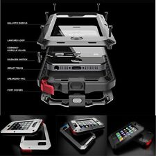 Military Heavy Duty Aluminum Metal Cover Case for Apple iphone 4 4S 5 5S 6 6Plus
