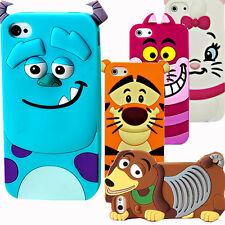 3D Cute Cartoon Silicone Rubber Back Case Cover For Apple iPhone 4/4S 5/5S 6/6+