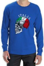 Italy World Cup Skull Long Sleeve T-Shirt Italia football national team soccer