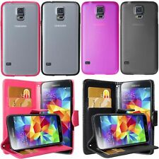 NEW BLACK/HOT PINK FOR SAMSUNG GALAXY S5 i9600 FLIP/BUMPER PC/GEL CASE COVER