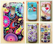 Owl flower rose print soft plastic case for Samsung Galaxy Ace II-X 2X S7560M