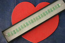 Beautiful Bracelet With Jade And Pearls Gems 8 Inches Long In Display Gift Box
