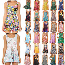 2014 Womens 3D Graphic Print Cartoon Animate Chic Skater Two Way Singlet Dress