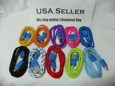 Wholesale Lot: 1M 3FT Braided Blinking LED micro USB to USB Charger Cables