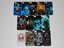 Apple iphone 4 4s 5 5s Fitted Case Cover Skulls Sexy Biker Men Woman Anarchy