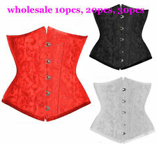 Wholesale Lots Sexy Floral Pattern Brocade Underbust Corset Waspie Bustier