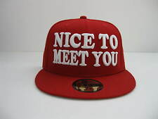 NEW ERA 59fifty NICE TO MEET YOU - SEE YOU winfield BASEBALL CAP red/white