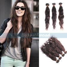 """12-26"""" Brazilian Natural Body Wave Weaving Remy Human Hair Extensions 50g Brown"""