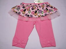 "BABY GIRLS MINNIE MOUSE LEGGINGS WITH SKIRT""TULLE""  SIZES 000 - SIZE 2"