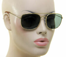 Men Women Sunglasses Retro Aviator Square Metal Frame Vintage Classic Cop Style