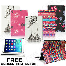 PATTERNED FLOWER GIRL TRIBE LEATHER FLIP STAND CASE COVER FOR APPLE IPAD MINI1 2