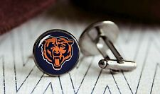 Chicago Bears new mens silver cufflinks set in box for weddings, gift, prom