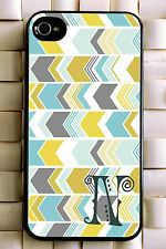 Monogrammed iPhone 5 case lovely chevron personalized cover iPhone 4 MG-034