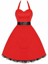 New Hearts & Roses Red and Black Small Dot Dress. Retro Rockabilly PLUS SIZE