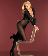 Plus Size SHEER LONG SLEEVE Body Stocking CROTCHLESS CrossDresser QUEEN