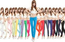 New style Summer Candy Color Jeans Skinny Pencil Pants Women's Jeans pants