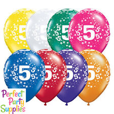 5th Birthday Star 1x 28cm Balloon Party Supplies Decorations Red Purple Green