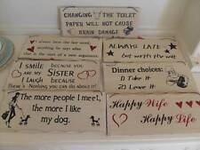 DINNER CHOICES SISTER HAPPY WIFE DOG CAT KITCHEN CHIC N SHABBY WOODEN SIGN