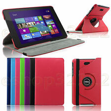 Folio Rotating PU Leather Stand Case Smart Cover - Dell Venue 8 pro 5830 Tablet