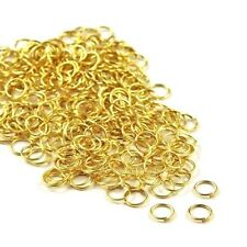 100 x Superior Super Strong Metal Jump Rings ♥ 4 Colours ♥ 5 Sizes ♥ lady-muck1