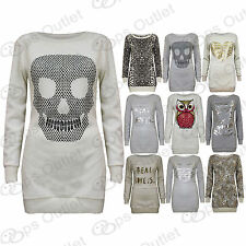 Pull Motif Manches Longues Femme