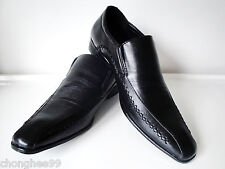 Mens Synthetic Leather Smart Party Dress Loafers Wedding Casual Shoes Black New