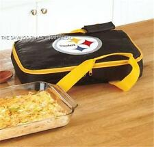 INSULATED NFL FOOTBALL TEAM CASSEROLE FOOD CARRIER W/DOUBLE HANDLES -12  TEAMS!