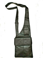 NEW REAL LEATHER SHOULDER HOLSTER MONEY BAG BELT WALLET TRAVEL SECURITY BELT