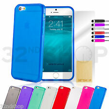 Crystal Gel Silicone case cover for Apple iPhone 5 5S + FREE screen protector