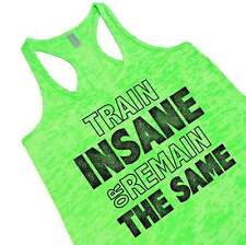 Train Insane Or Remain The Same Burnout Racerback Tank Top Gym Motivation Quote