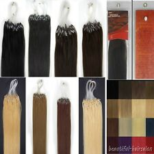 16-26'' Loops Micro Rings Beads Tip Remy Human Hair Extensions Straight 100s New