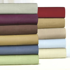 Brand New Solid 4 Pc. Fitted Bed Sheet Sets Mattress Linens Full Queen King