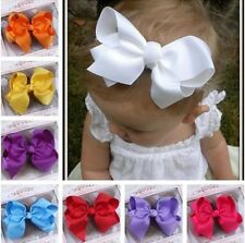 GROSGRAIN RIBBON BOW HAIR CLIP PIN ALIGATOR CLIPS FLOWER BABY/GIRL Newly