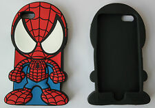 UK NEW 3D Silicon Marvel Spiderman iPhone 5 5S Mobile Phone Case Cover Superhero