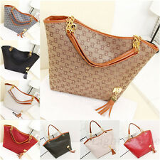 New Fashion Ladies Hobo Shoulder Bag Faux Leather Satchel Tote Women Handbag n54