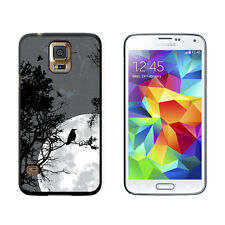 Raven at Night - Black Bird Full Moon - Protective Case for Samsung Galaxy S5