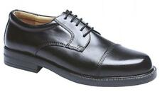Scimitar Mens Leather Lace Up Toe Cap Padded Office Formal Gibson Shoes Black