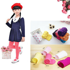 Girl Kid Lovely Fashion Tights Stockings  Dot Solid Candy Colors Elastic