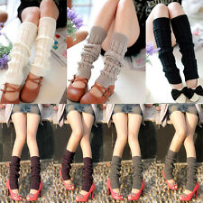 Fashion Women Warm Knit Crochet High Knee Leg Warmer Leggings Socks Cable Slouch