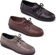 Padders REBEL Mens Soft Leather 3 Eyelet Lace-Up Comfort Padded Casual Shoes New