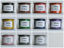 100m Reel  1/0.6mm - 22 AWG* Solid Core Equipment Wire - 11 Colours - Hook up